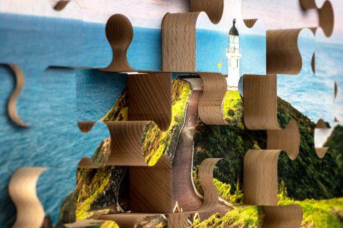 drevene puzzle